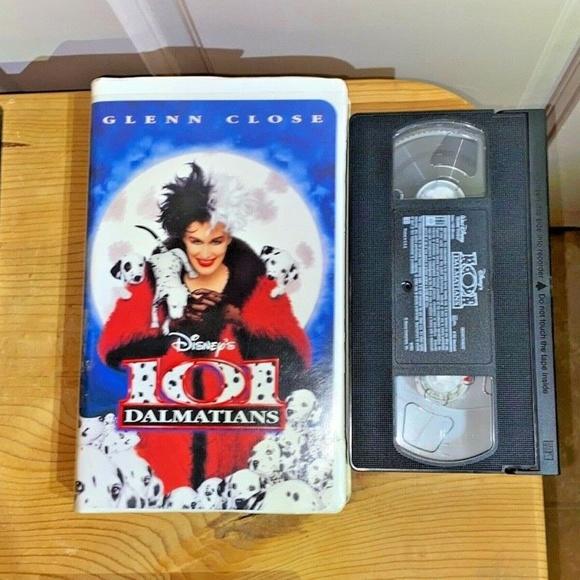 Vintage VHS 101 Dalmations Disney Glenn Close
